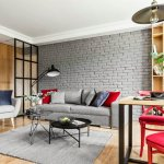 adelaparvu.com despre apartament 56 mp cu accente de rosu, design SAS Wnetrza i Kuchnie, Foto Strazynski Studio (1)