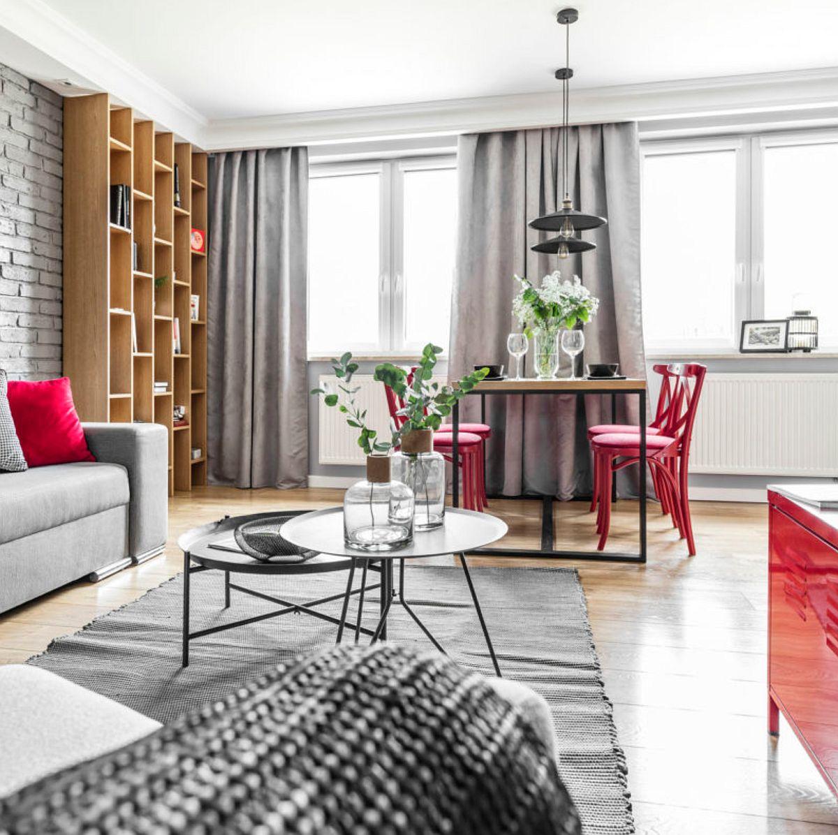 adelaparvu.com despre apartament 56 mp cu accente de rosu, design SAS Wnetrza i Kuchnie, Foto Strazynski Studio (10)