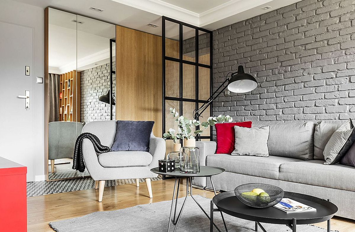 adelaparvu.com despre apartament 56 mp cu accente de rosu, design SAS Wnetrza i Kuchnie, Foto Strazynski Studio (2)