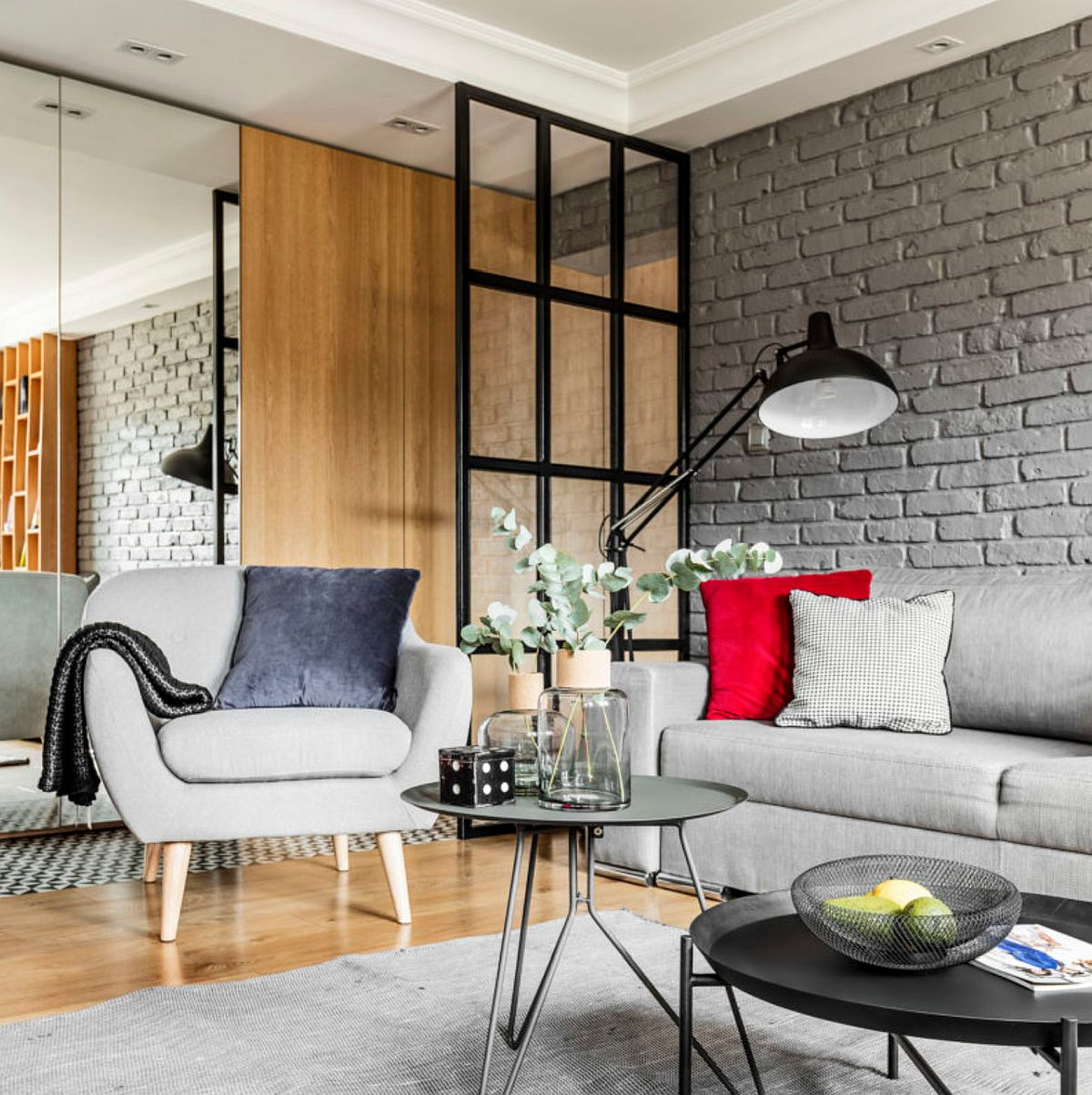 adelaparvu.com despre apartament 56 mp cu accente de rosu, design SAS Wnetrza i Kuchnie, Foto Strazynski Studio (5)