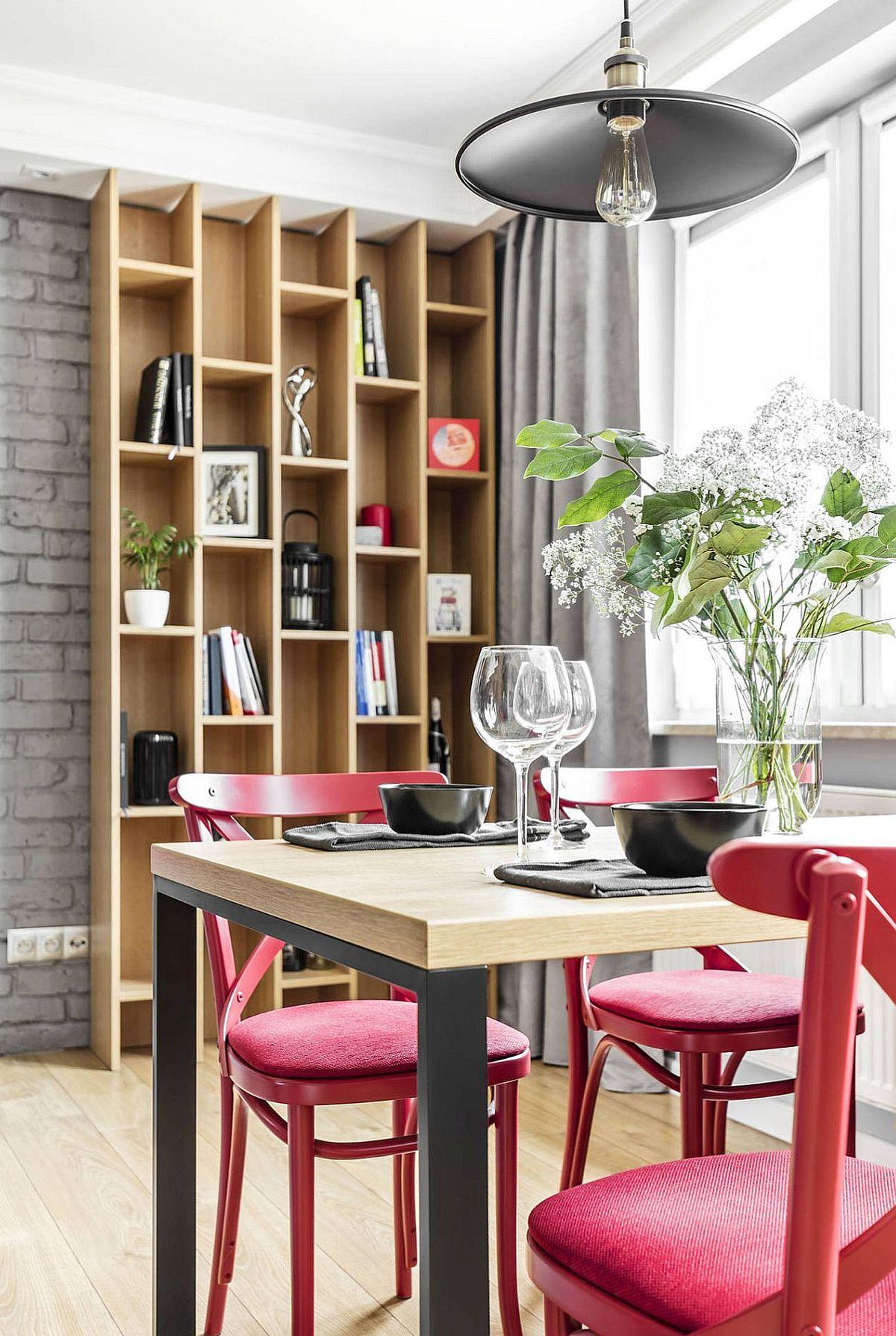 adelaparvu.com despre apartament 56 mp cu accente de rosu, design SAS Wnetrza i Kuchnie, Foto Strazynski Studio (7)