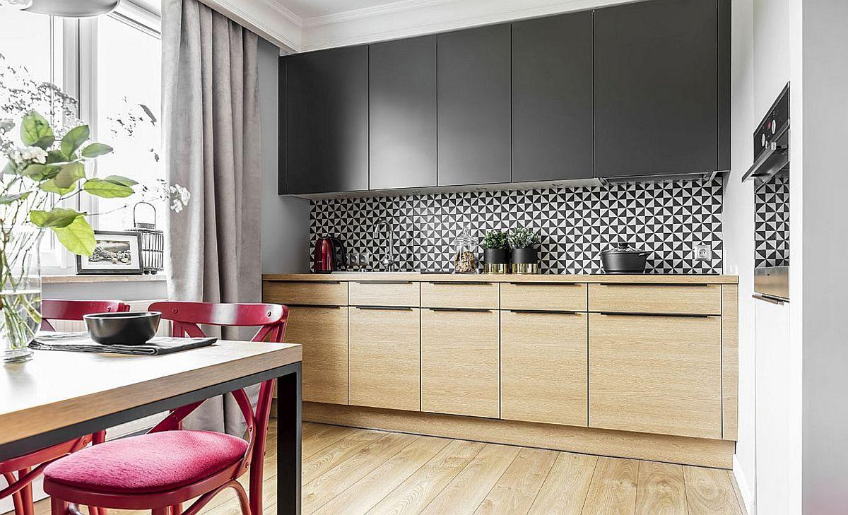 adelaparvu.com despre apartament 56 mp cu accente de rosu, design SAS Wnetrza i Kuchnie, Foto Strazynski Studio (8)