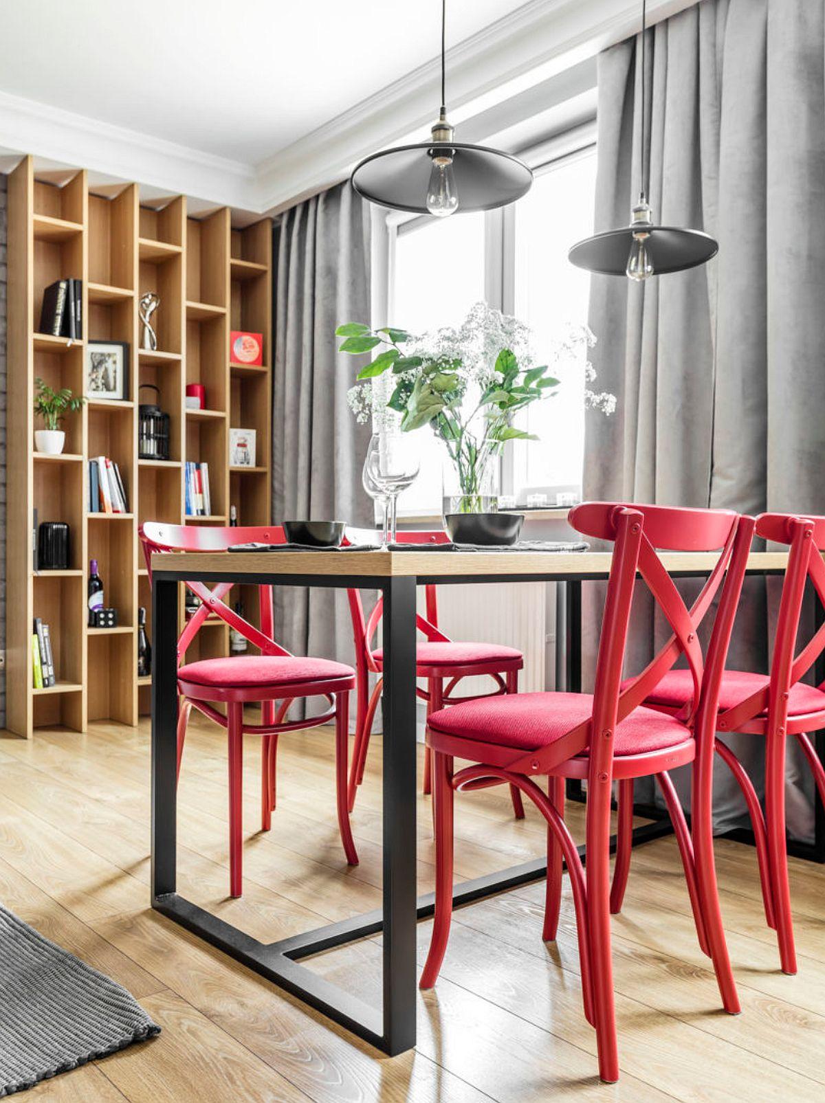 adelaparvu.com despre apartament 56 mp cu accente de rosu, design SAS Wnetrza i Kuchnie, Foto Strazynski Studio (9)