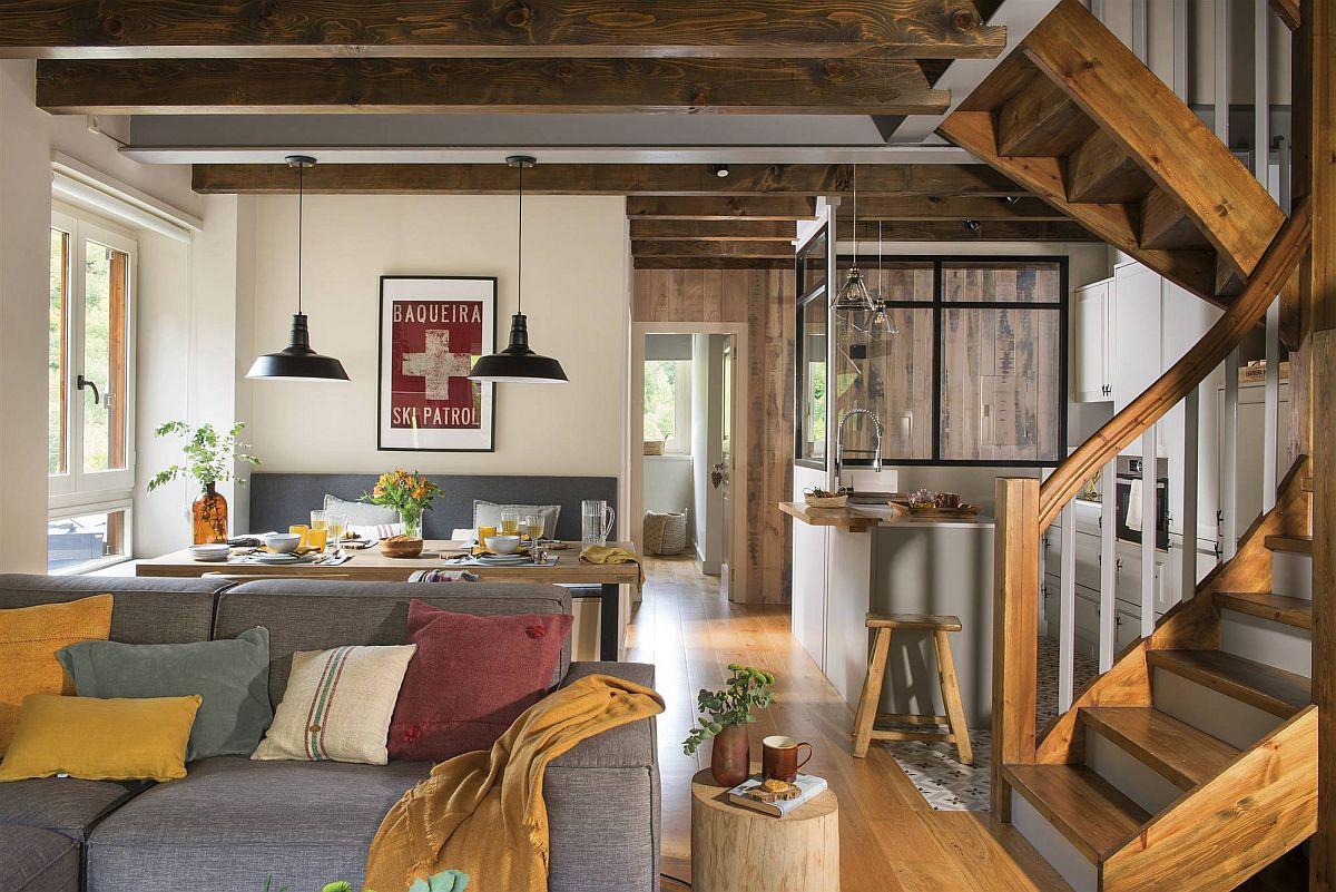 adelaparvu.com despre casa de vacanta cu lemn de castan, Pirinei, designer Juanma Alfonso, Luderna Design, Foto ElMueble (13)