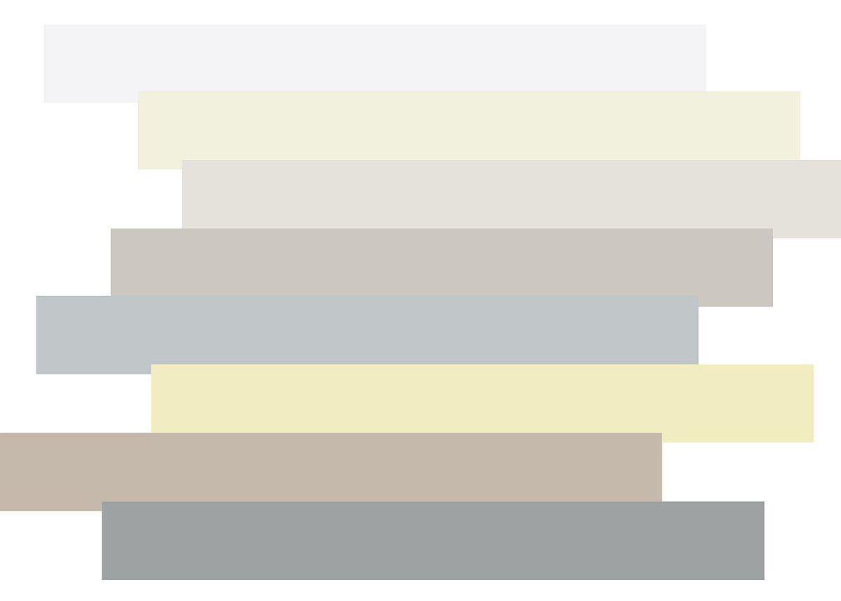 Foto mood board Ambiente 2020. Culori caracteristice trendului Monimalism Spiritual