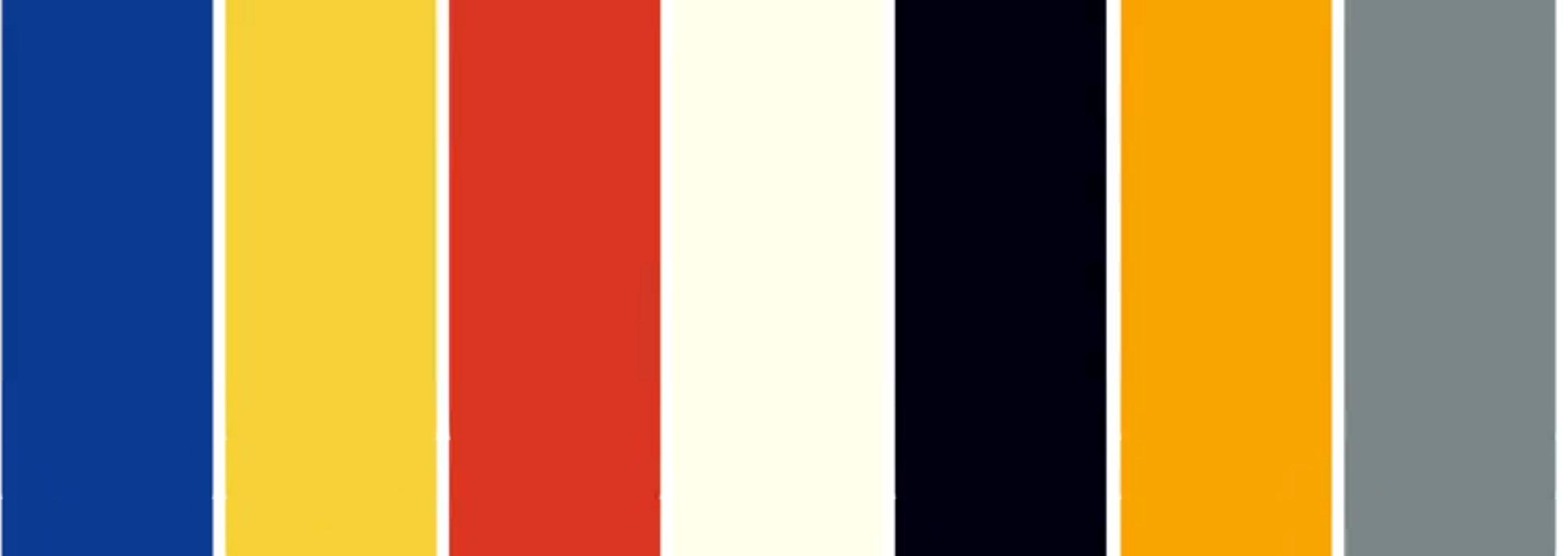 Foto Heimtextil 2020. Paleta de culori sociată trendului Urban Smart este inspirată de culorile primare rosu, galben, albastru, cărora li se adaugă nonculorile alb și negru, plus griul și portocaliul echipamentelor sportive.