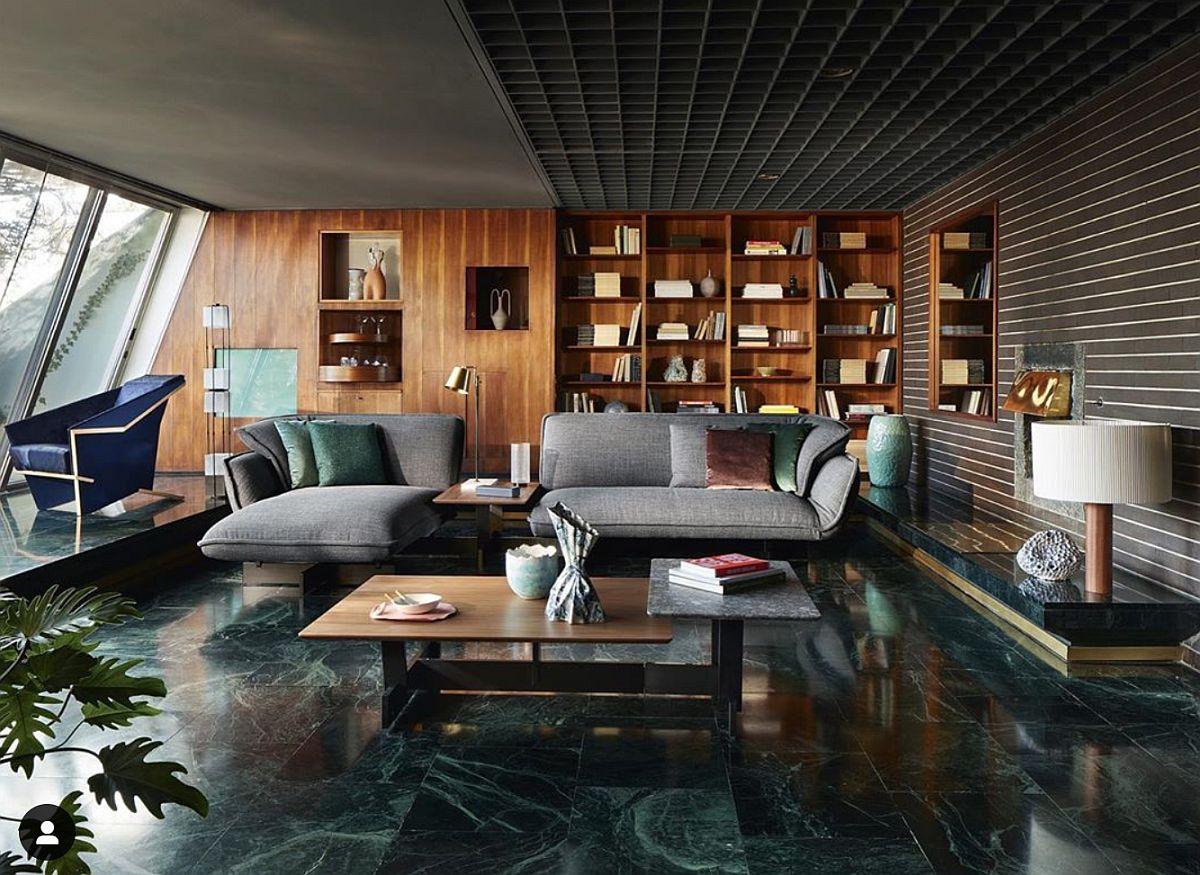 Foto Cassina. Așa ar putea arăta un interior în trendul Etic Natural din perspectiva luxoasă, piese de mobilier și finisaje naturale, dar care vor fi durabile, rezistente și arătoase pe viață.