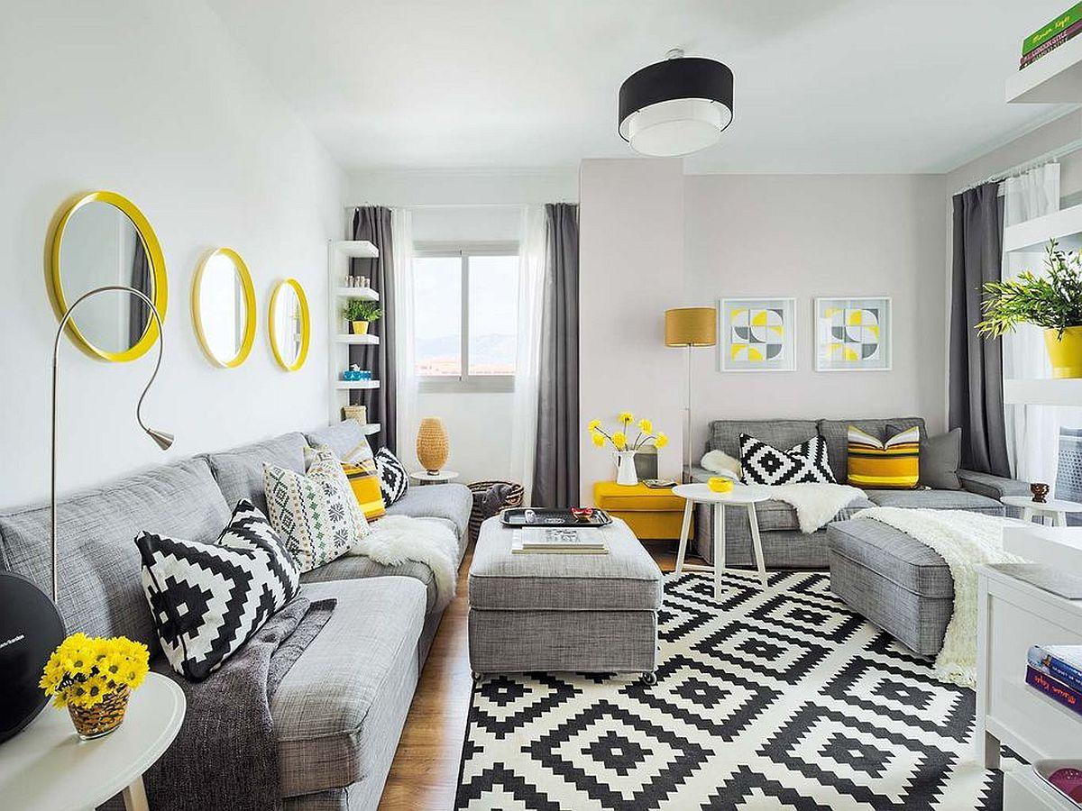Canapelele cu tapițerie gri sunt cele mai potrivite pentru o familie. Comode, ușor de întreținut și fără stres că se vor murdări.