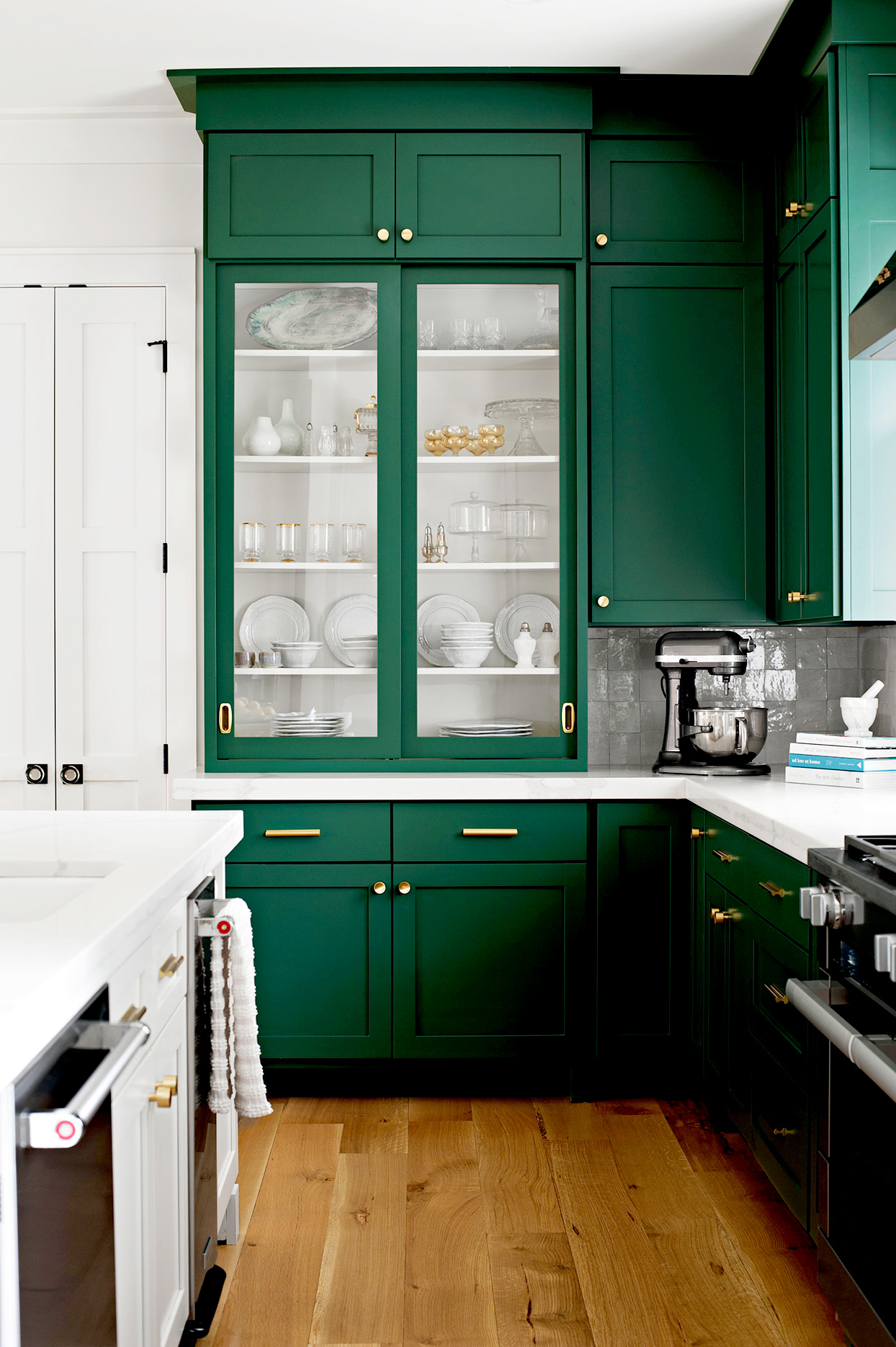Emerald-green-kitchen