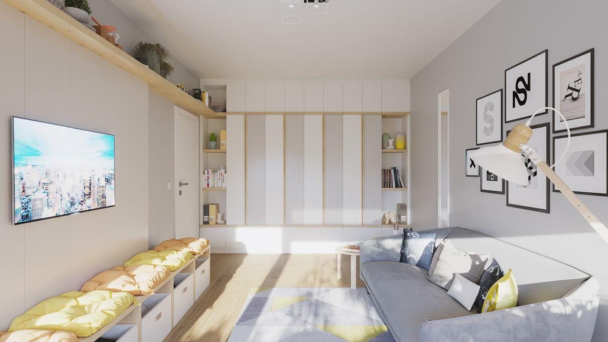 adelaparvu.com despre culorile anului 2021, idei amenajari in galben si gri, Foto randari Alderamin Studio (4)