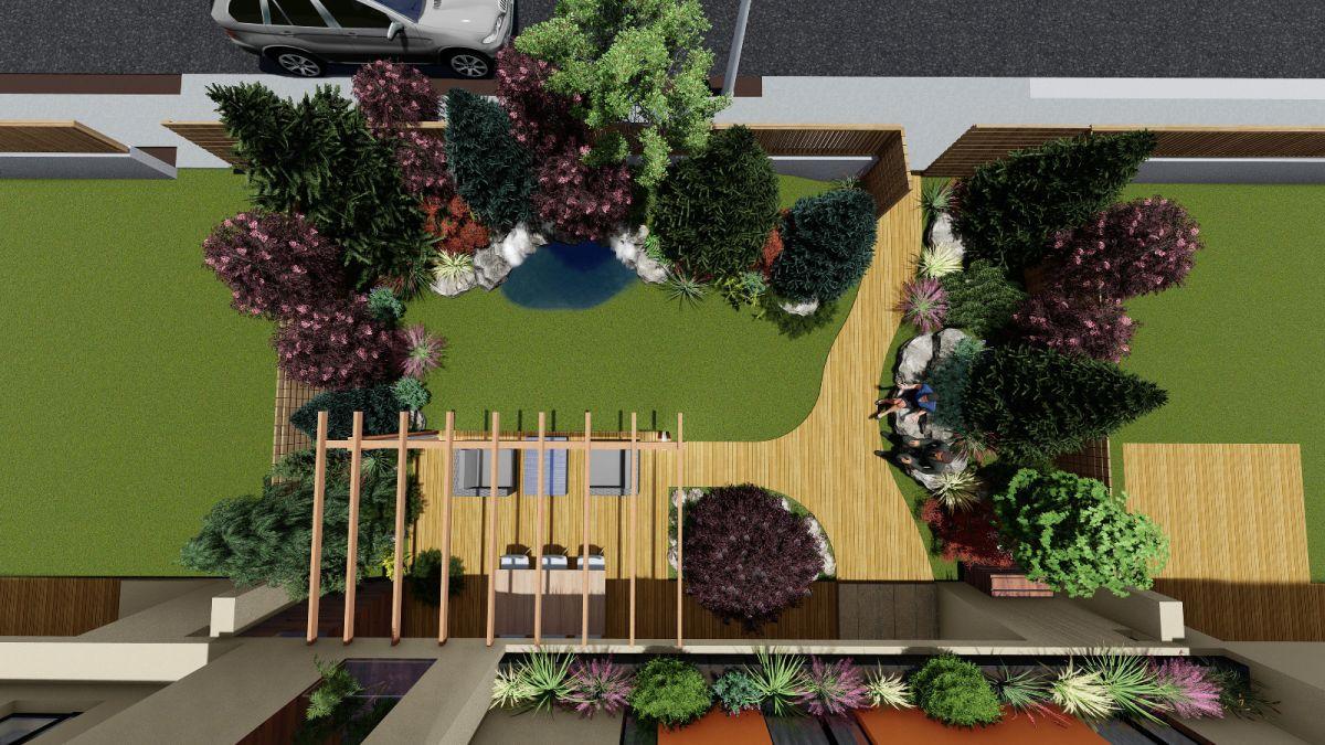 Înainte de a trece la execuția unei amenajări peisagistice, arhitectul Dragoș Isăcescu face un plan, un proiect al grădinii pentru ca organizarea ei să fie înțeleasă, iar mai apoi implementarea să poată fi făcută rapid, fără ezitări, cunoscându-se atât materialele necesare, cât și cantitățile, deci costurile lor.
